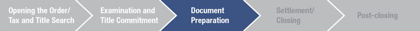 Chevron graphic with Document Preparation highlighted