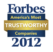 Forbes America's Most Trustworthy Companies 2012 logo