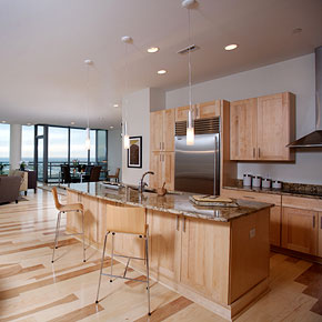Interior photo of Condominiums at North Bank Park kitchen
