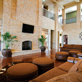 Interior photo of Campus Village at College Station