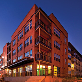 Exterior photo of Cevallos Lofts building
